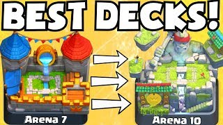 Clash Royale BEST ARENA 7 - ARENA 10 DECKS UNDEFEATED | BEST ATTACK STRATEGY TIPS F2P PLAYERS