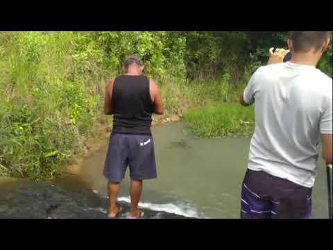 Nós pescando na Cachoeirinha de Tanabi