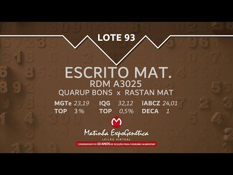 LOTE 93 MATINHA EXPOGENÉTICA 2021