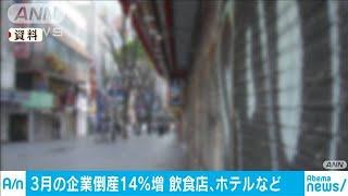 3月の倒産が前年比14%増 飲食・ホテルなどで顕著(20/04/08)