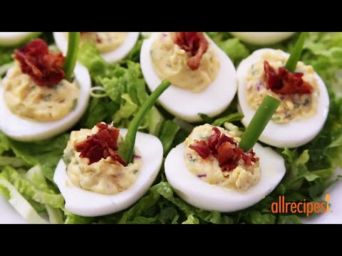 How to Make Jalapeno Bacon Cheddar Deviled Eggs | Appetizer Recipes | Allrecipes.com
