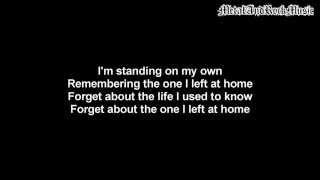 Three Days Grace - On My Own   Lyrics on screen   HD