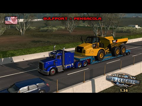 American Truck Simulator 1.36 I My Trucking Diary - Episode #77 I Gulfport - Pensacola