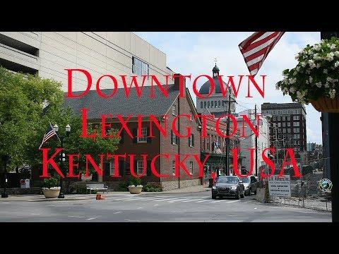 Tour of Downtown Lexington   Kentucky   History   Subtitles   USA   2018