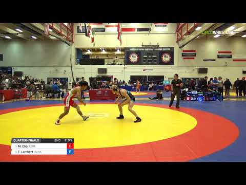 Mens Freestyle 57 Quarter-Finals - Minsu Cho (Kore) vs. Tim Lambert (Sunk)