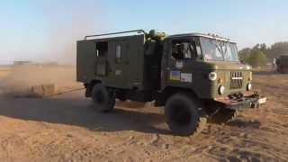 ГАЗ-66 ''Шишига'' vs бетонный блок 700 кг.