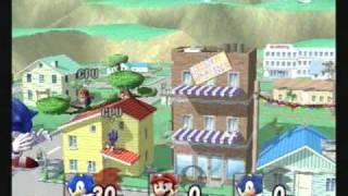 Brawl Hacks - Giant Growing Sonic v.s. Mario & Sonic