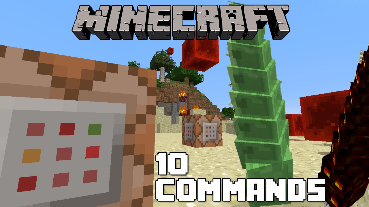 how to use commands in minecrft