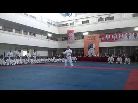 Grand Master TOMIMO KISHI Demonstrate  kata TENSHO In INDIA