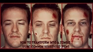 Zombie Makeup Tutorial Using Common Household Items Thumbnail