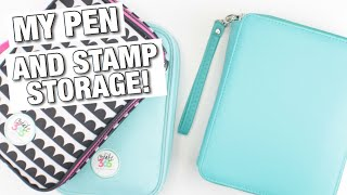 How I Store My Pen Collection and Stamps! | At Home With Quita