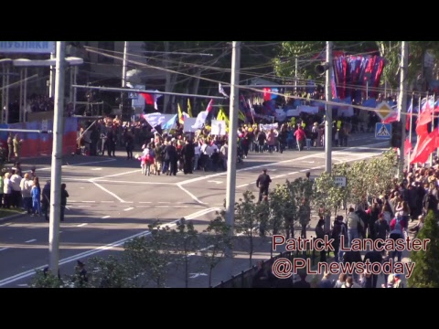 LIVE: Donetsk DPR Republic Day parade