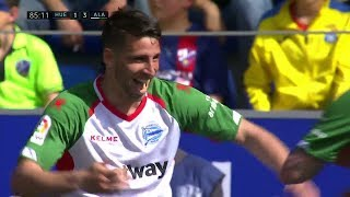 Golazo de Jonathan Calleri en el SD Huesca 1 - Alaves 3 | Audio: Miguel Angel Román | 18-19