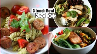 3 Easy Healthy Lunch Bowls - School & Work Lunch Ideas -  MissLizHeart