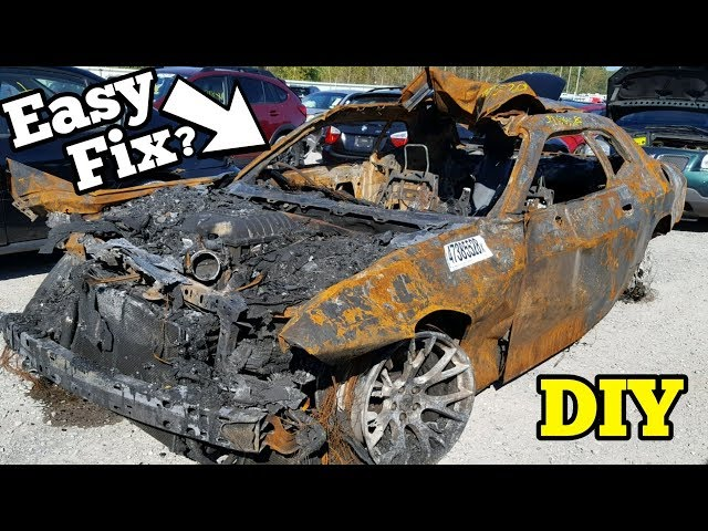 Can a $5,000 Fire Salvage Hellcat REALLY Be Rebuilt?
