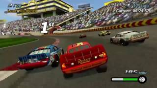 Cars 1 the Videogame- Race 5 No Com - Lightning Mcqueen VS Summer Grand Prix