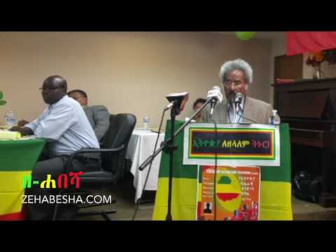 Prof Mesfin Woldemariam's Speech at National Unity Conference Seattle, Washington 2017