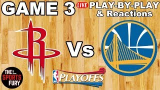 Rockets vs Warriors Game 3 | Live Play-By-Play & Reactions