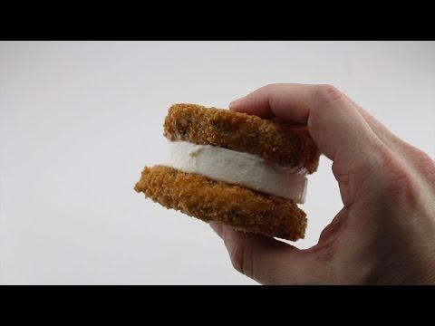 The Deep Fried Chocolate Chip Cookie Ice Cream Sandwich