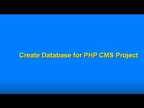 Create Database for PHP CMS Projects