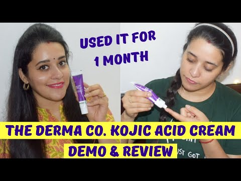 The Derma Co Kojic Acid Cream Demo & Review   Cream For Acne Pimple Marks, Pigmentation, Dark Spots?