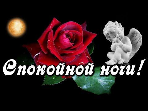 Доброй ночи и сказочных снов среди Ангелов и цветов! Красивая музыкальная открытка Спокойной ночи