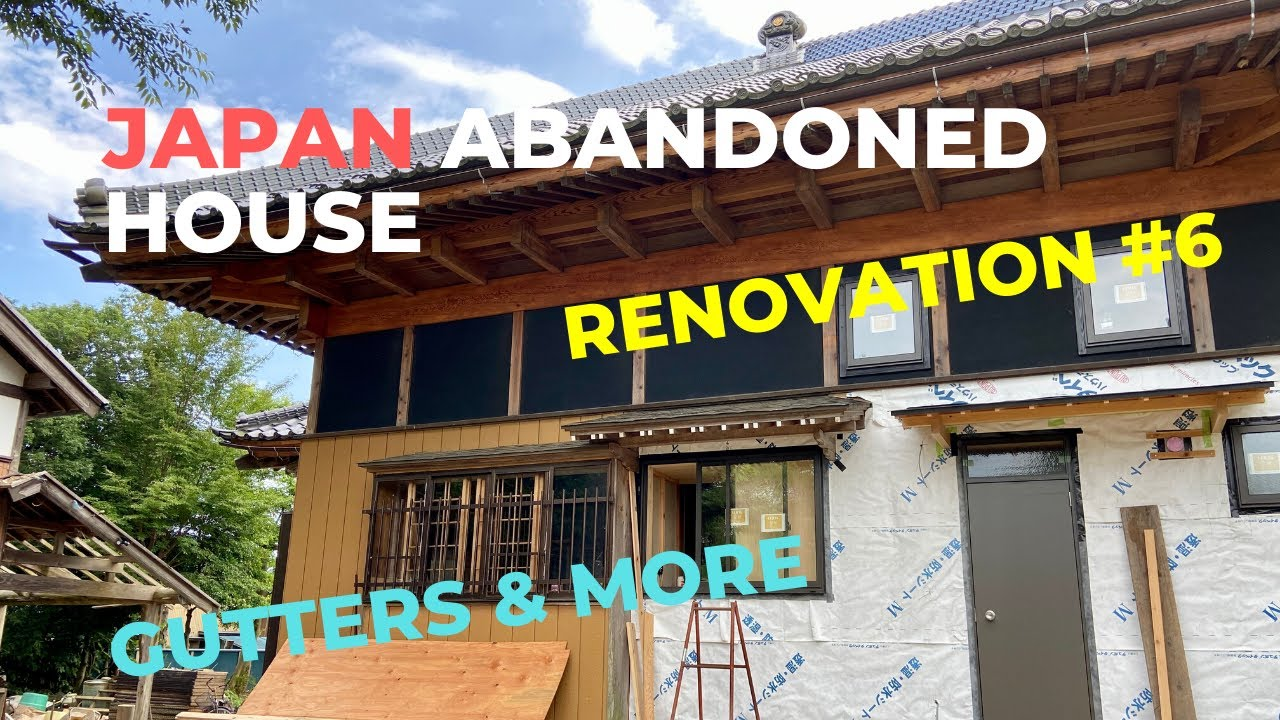 Japanese Abandoned House Renovation #6 | Painting Exterior, Wooden Awning, Scaffolding Removed