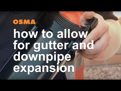Allowing For Gutter And Downpipe Expansion - OSMA Rainwater