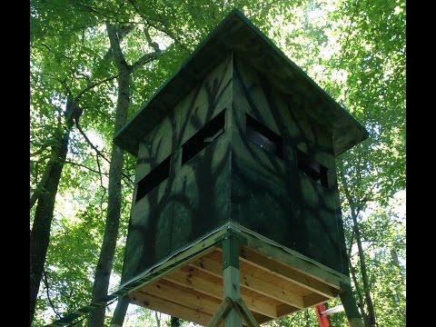 Deer Tower Stand using EZ-Tower brackets