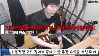 기타를 잘 치려면 메이저 마이너 스케일의 10가지 폼 외우자 l WEE