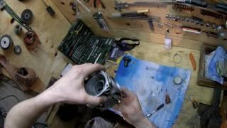 Снятие чистка регулировка установка карбюратора honda degree xl250 часть 3