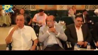بالفيديو: ظهور أنس الفقي وسامح فهمي بعزاء والدة أسامه الشيخ