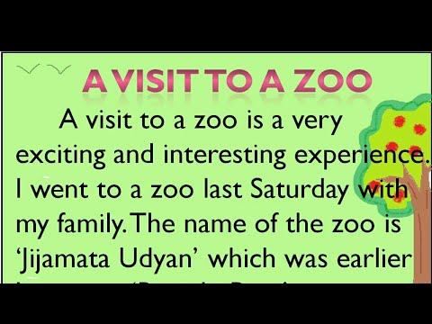 A visit to a zoo essay in English by Smile Please Kids