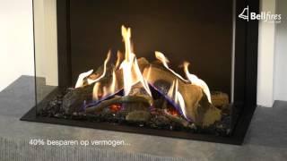Driezijdige gashaard met 3D brander