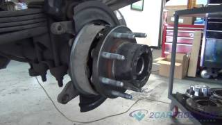 Rear Axle Bearing, Seal, E-Brake shoes, Brake Pads & Rotor Replacement Chevrolet Silverado 2500 HD