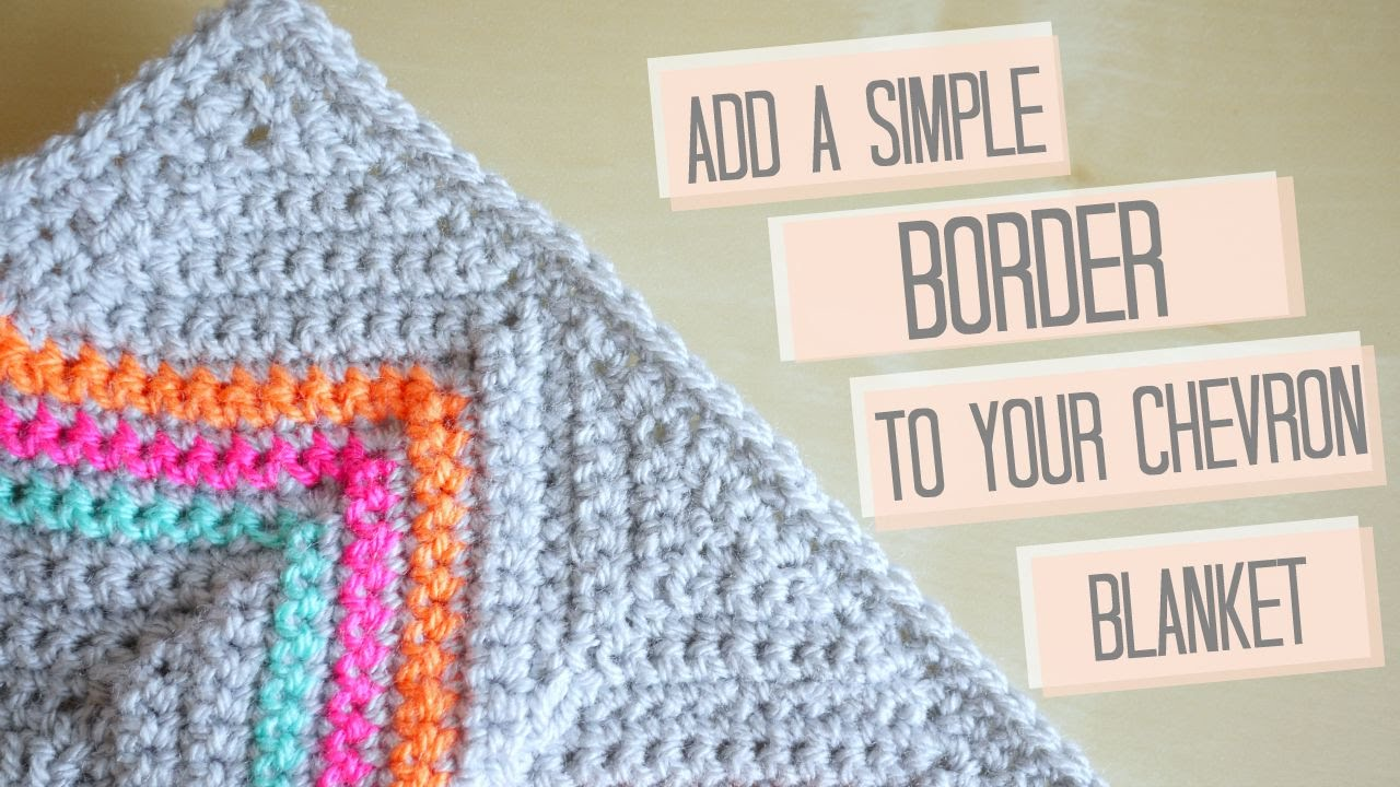 CROCHET: Simple chevron border Bella Coco #ad - YouTube