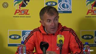 Orlando Pirates | 2018/19 MTN8 QF | vs SuperSport United | Post Match Press Conference