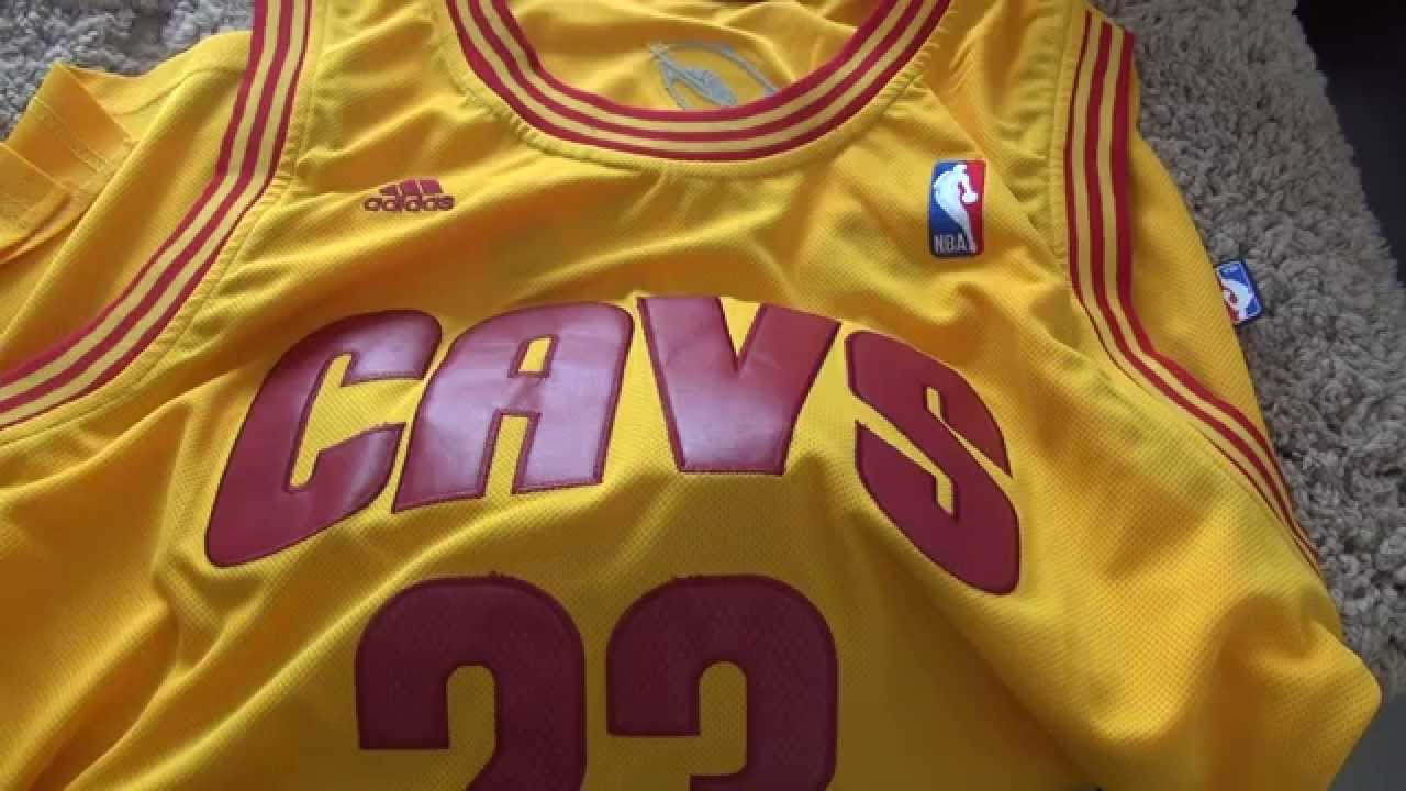 a29b34314dc LeBron James Cleveland Cavaliers adidas Replica Jersey – Gold - YouTube