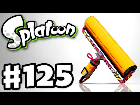 Splatoon - Gameplay Walkthrough Part 125 - Carbon Roller Deco! (Nintendo Wii U)