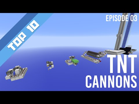 Top 10 - TNT Cannons {60 Fps}