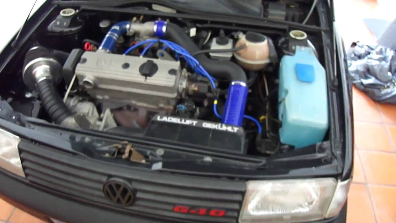 Starting Engine Vw Polo G40 Youtube
