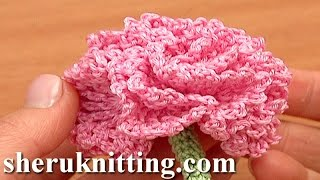 Get the more patterns at http://sheruknitting.com/ Crochet flower p...