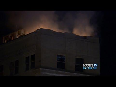 Downtown Portland skyscraper catches fire