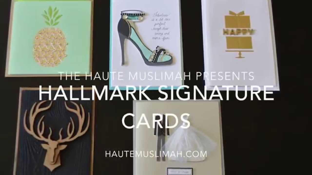Hallmark Signature Card Collection Youtube