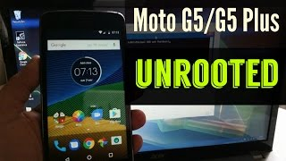 MOTO G5 /G5 PLUS 2017 UNROOT| UNBRICK/Flash Back To Original Stock Firmware