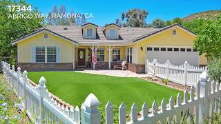 4 BR/2BA Single Family Home for Sale in Gorgeous Ramona