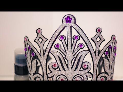 Glitter Birthday Crown - Brushed Metal Effect
