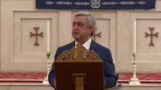 Նախագահ Սարգսյանը Աբու Դաբիում այցելել է Սրբոց Նահատակաց հայկական եկեղեցի