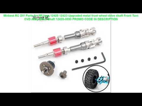 Promo Mirbest RC DIY Parts for WLtoys 12428 12423 Upgraded metal front wheel drive shaft Front Turn