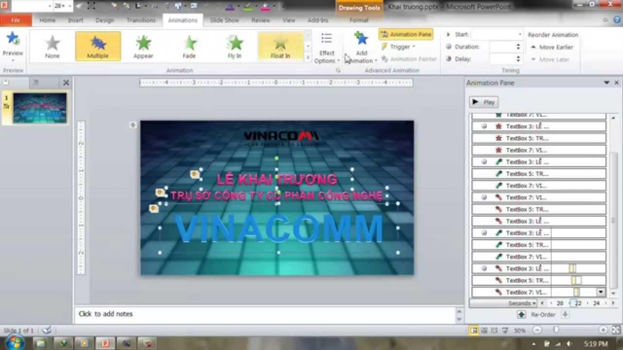 PowerPoint Slide – Hướng dẫn Chèn nhạc audio video làm nền động cho slide powerpoint
